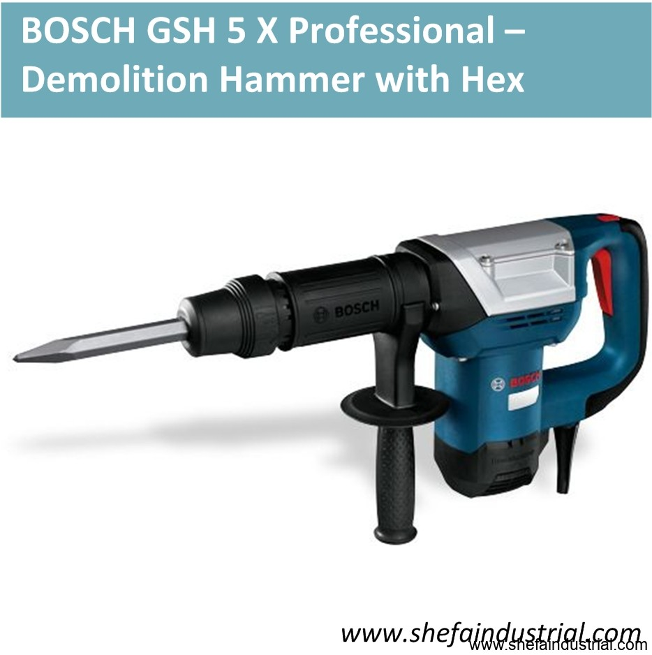 BOSCH GSH 5 X Professional – Demolition Hammer with Hex