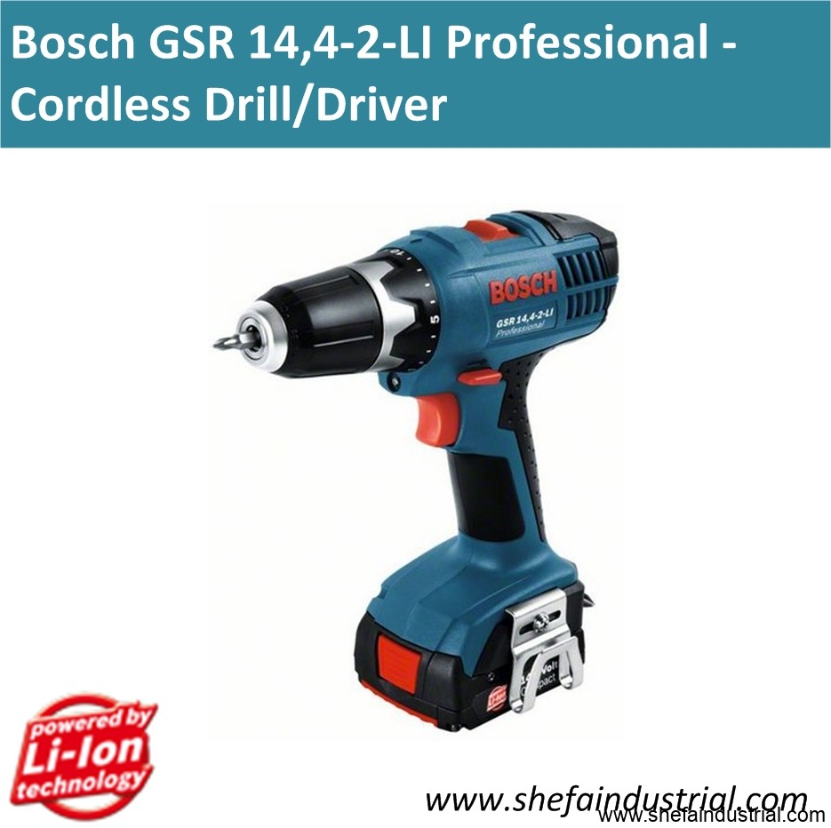 bosch gsr 14 4 2 li professional cordless drill driver shefa industrial products inc. Black Bedroom Furniture Sets. Home Design Ideas