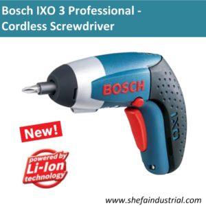 bosch ixo 3 professional cordless screwdriver shefa. Black Bedroom Furniture Sets. Home Design Ideas