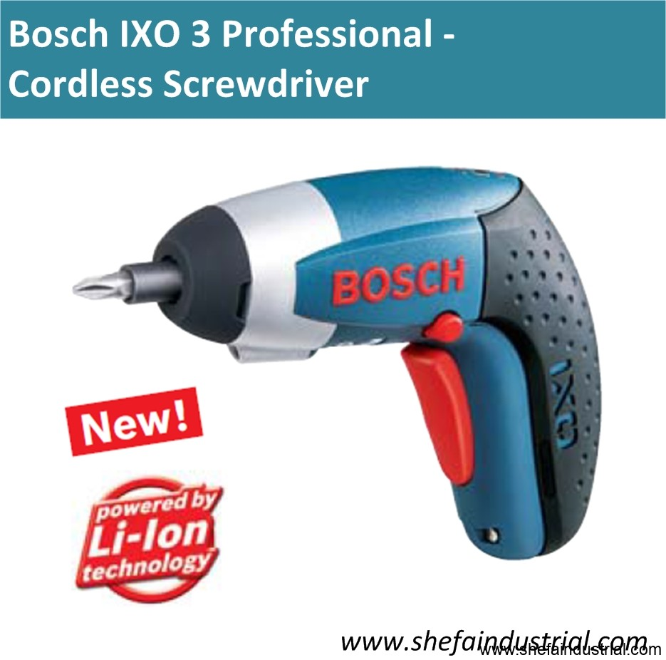 bosch ixo 3 professional cordless screwdriver shefa. Black Bedroom Furniture Sets. Home Design Ideas