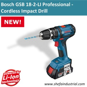 bosch gsb 18 2 li professional cordless impact drill shefa industrial products inc http. Black Bedroom Furniture Sets. Home Design Ideas