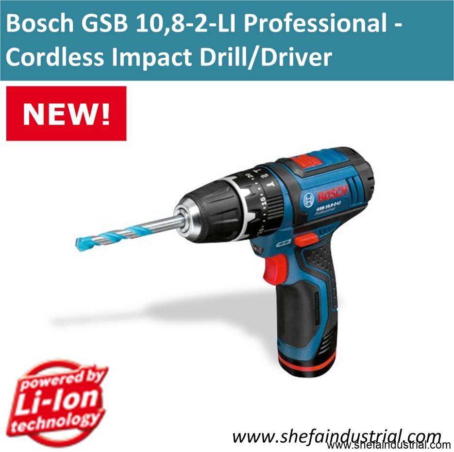 bosch gsb 10 8 2 li professional cordless impact drill. Black Bedroom Furniture Sets. Home Design Ideas