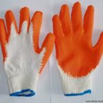 rubberized cotton knitted gloves