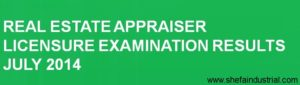Real Estate Appraiser - Exam Results 2014