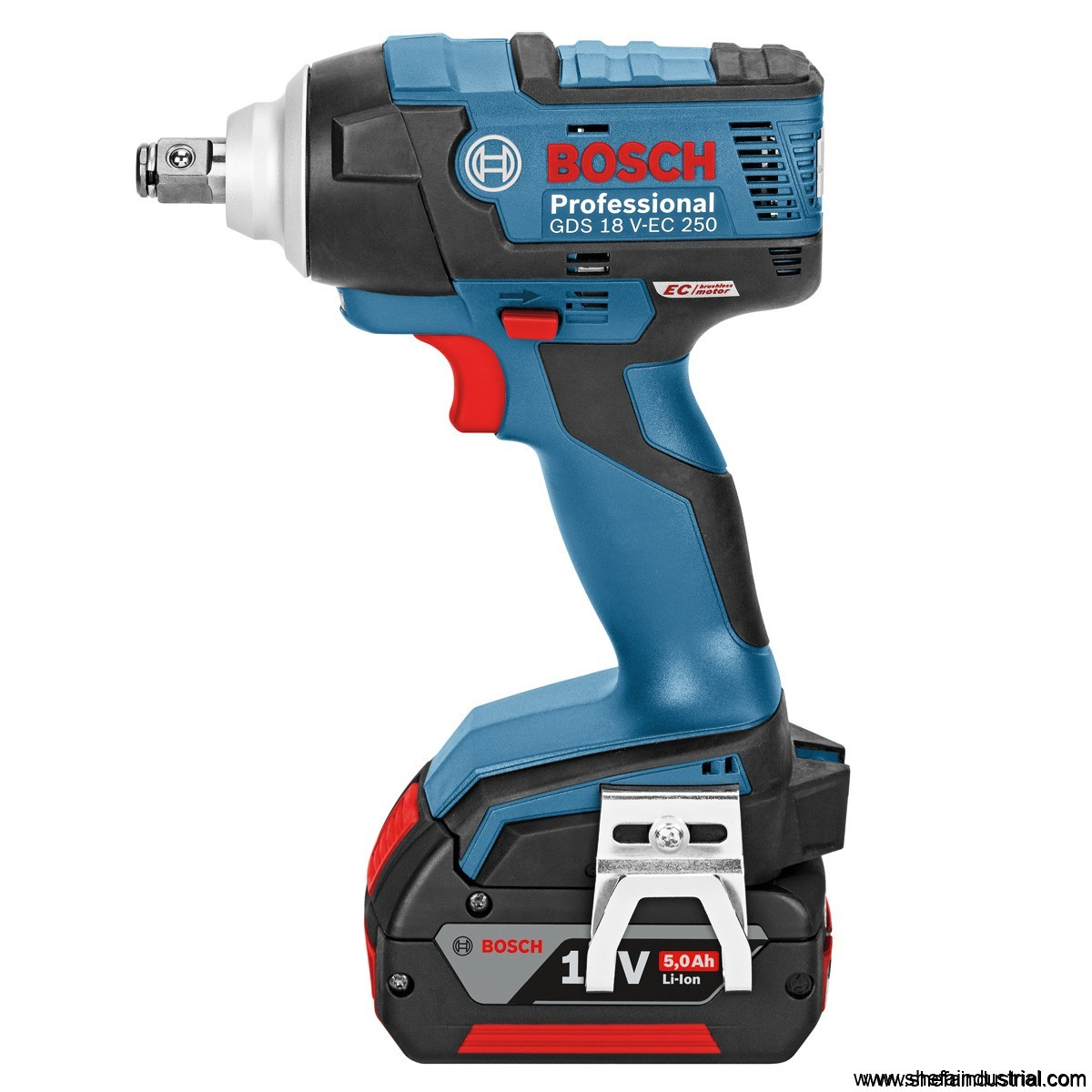 bosch gds 18 v ec 250 impact wrench shefa industrial products inc. Black Bedroom Furniture Sets. Home Design Ideas