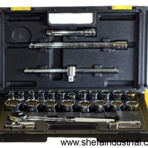 stanley 12 dr 27piece socket set silver