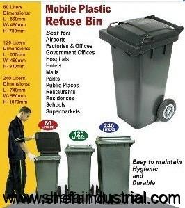 mobile plastic garbage bin 240l u2013 we deliver