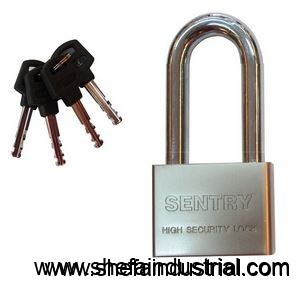 sentry-long-shackle-satin-stainless-padlock
